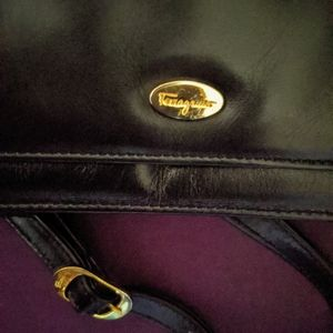 Authentic Salvatore Ferragamo Black Leather Purse